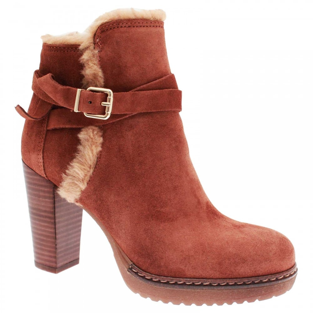 ce31297ff730 Women s Fur Topped High Heel Ankle Boot By Aple At Walk In Style