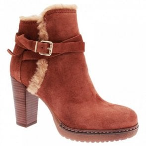 Women's Fur Topped High Heel Ankle Boot