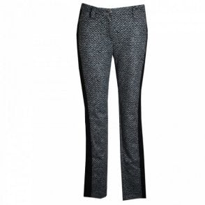 Women's Herringbone Printed Panel Jeans