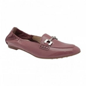 Women's High Front Flat Moccasin Shoe