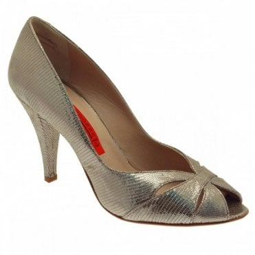 Women's High Heel Peep Toe Court Shoe