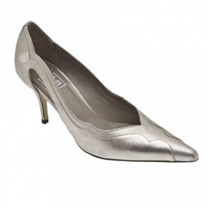 Renata Women's High Heel Silver Court Shoe