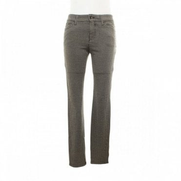 Women's Jersey Dog Tooth Check Trousers