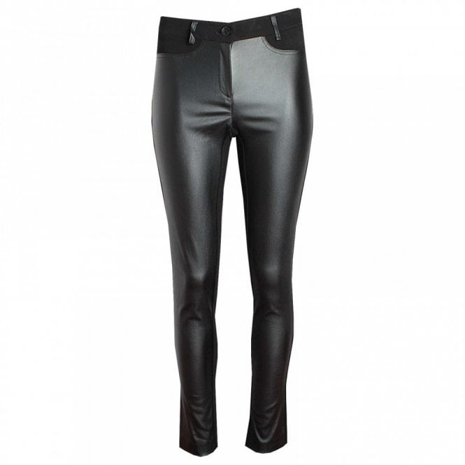 Badoo Women's Jersey & Leatherette Trousers