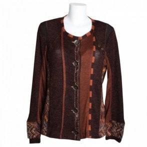 Women's Knitted Panel Texture Jacket
