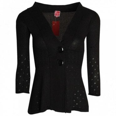 Aventures Des Toiles Women's Knitted Smoke Effect Cardigan