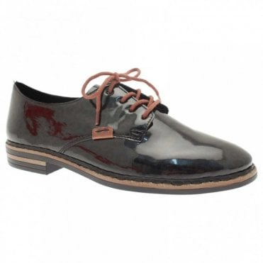 Women's Lace Up Patent Brogues