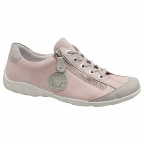 Women's Lace Up Trainer With Side Zip