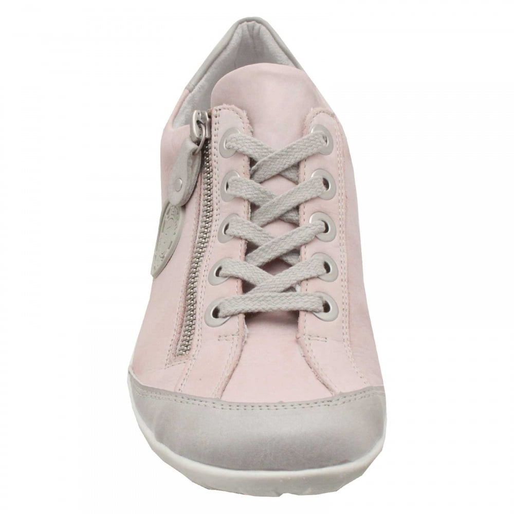 Remonte Lace Up Leather Pumps Shoes R3443 Flat Zip Sneakers Blue Pink Casual