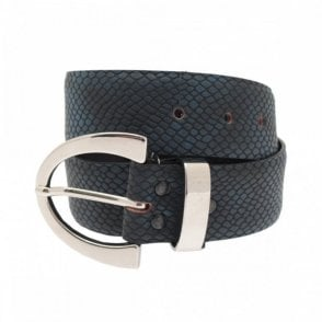 Women's Leather Belt With Silver Buckle