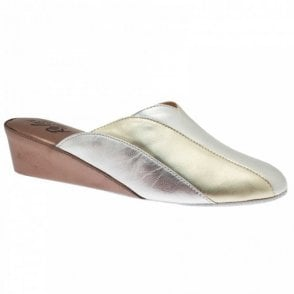 Women's Leather Wedge Slipper