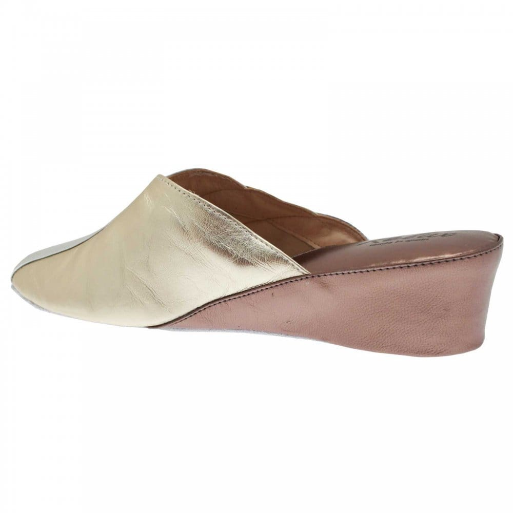 Relax Women's Leather Wedge Slipper - Relax from Walk in ...