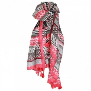 Betty Barclay Women's Lightweight Aztec Print Scarf