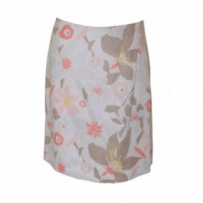 Women's Lined Floral Print Skirt