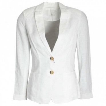 Women's Linen Button Blazer