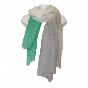 Women's Linen Scarf With Fringe Edge