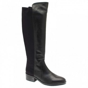 Women's Long Boots With Stretch Fit Back