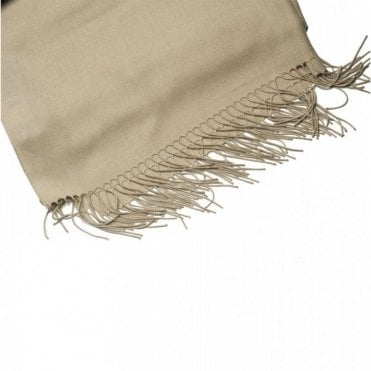 Women's Long Pashmina With Fringe Edge