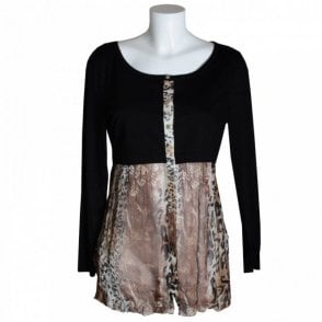 Women's Long Sleeve Animal Print Tunic
