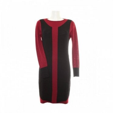 Women's Long Sleeve Crew Neck Dress