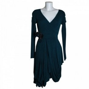 Women's Long Sleeve Dress With Pin