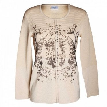 Women's Long Sleeve Jumper With Motif