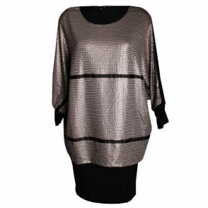 Women's Long Sleeve Layered Dress
