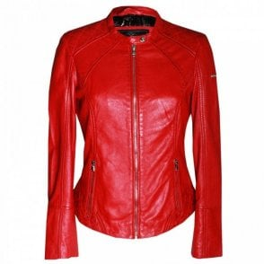 Women's Long Sleeve Leather Jacket