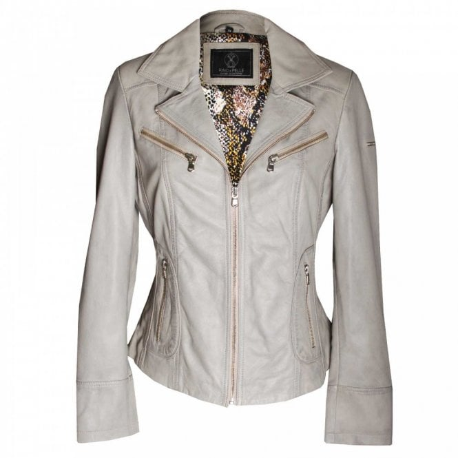 Rino & Pelle Women's Long Sleeve Leather Jacket