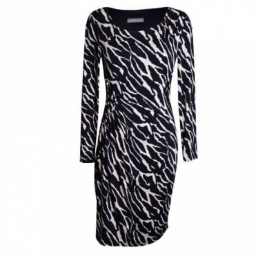 Women's Long Sleeve Multi Print Dress