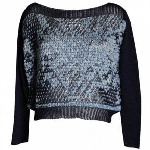 Women's Long Sleeve Open Knit Jumper
