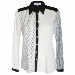 Women's Long Sleeve Polka Dot Shirt