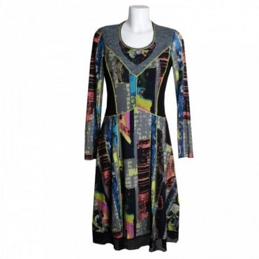 Women's Long Sleeve Printed Dress