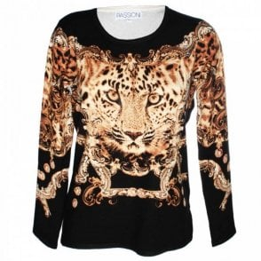 Women's Long Sleeve Printed Knit Jumper