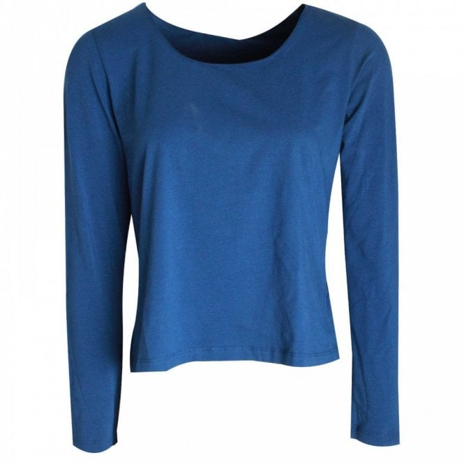 Crea Concept Women's Long Sleeve Rounded Neck Top