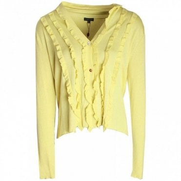 Women's Long Sleeve Ruffle Cardigan