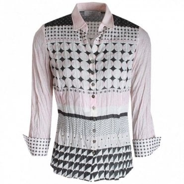Women's Long Sleeve Spotted Shirt
