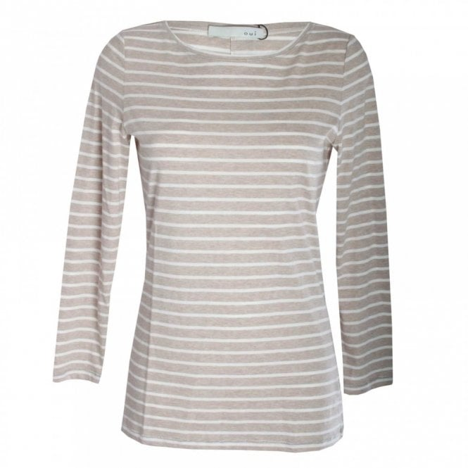 Oui Women's Long Sleeve Stripe Top