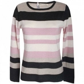 Women's Long Sleeve Stripped Jumper