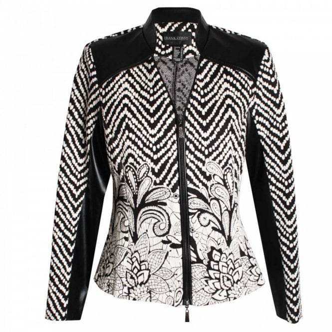 Frank Lyman Women's Long Sleeve Zip Blazer Jacket