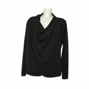 Women's Long Sleeved Drape Effect Top