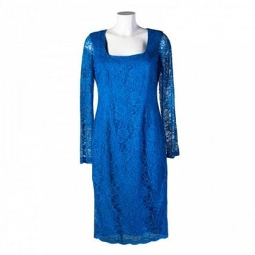 Women's Long Sleeved Lace Shift Dress