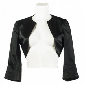 Women's Long Sleeved Satin Bolero