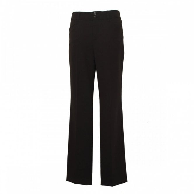 Oui Women's Long Trouser With Double Button
