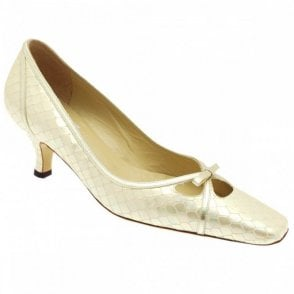 Renata Women's Low Heel Beige Court Shoe