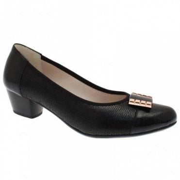 Women's Low Heel Court Shoe With Buckle