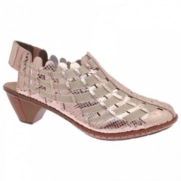 Women's Low Heel Filled In Sandal