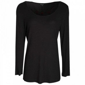 Women's Low Scoop Neck Jersey Top
