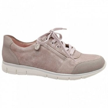 Women's Metallic Lace Up Trainer