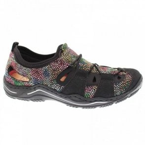 Rieker Women's Multi-coloured Pull On Trainer